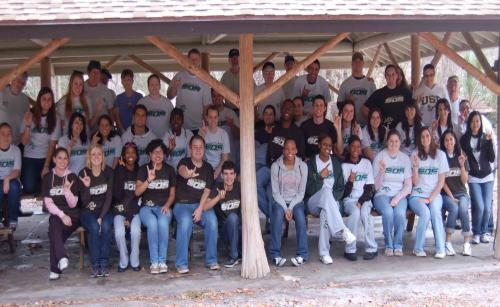 USF students at Stampede of Service